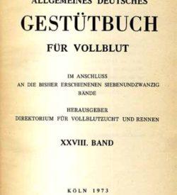 Allgemeines Deutsches Gestütbuch für Vollblut, 29. Band