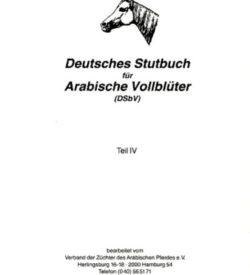 Deutsches Stutbuch für Arabische Vollblüter IV
