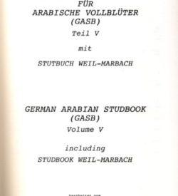 Deutsches Stutbuch für Arabische Vollblüter V