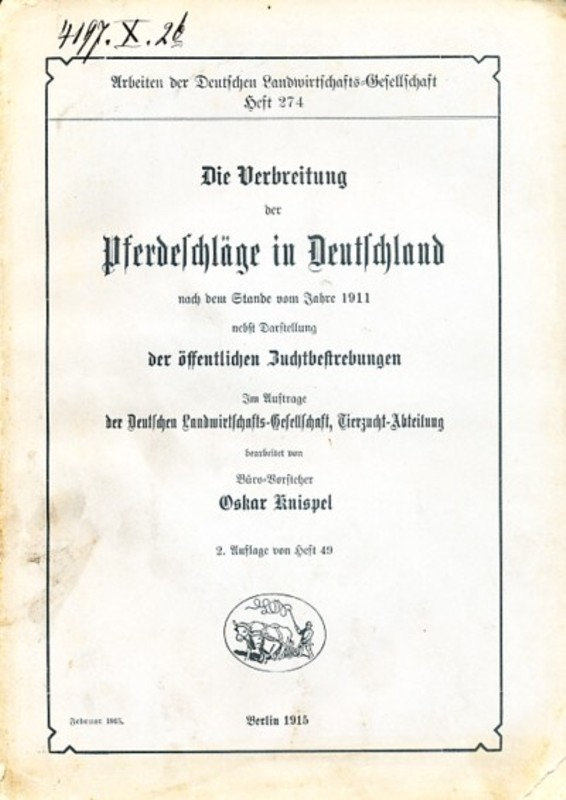 Die Verbreitung der Pferdeschläge in Deutschland