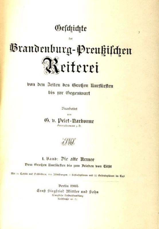 Geschichte der Brandenburg-Preußischen Reiterei