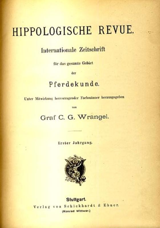 Hippologische Revue Graf Wrangel