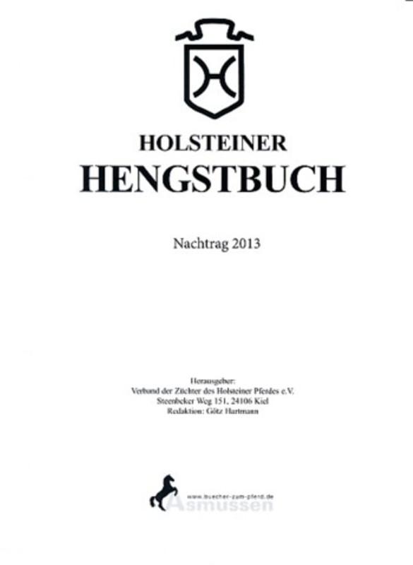 Holsteiner Hengstbuch Nachtrag 2013