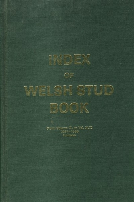Index of Welsh Stud Book 1919-1993