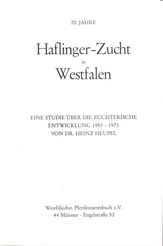 20 Jahre Haflinger-Zucht in Westfalen