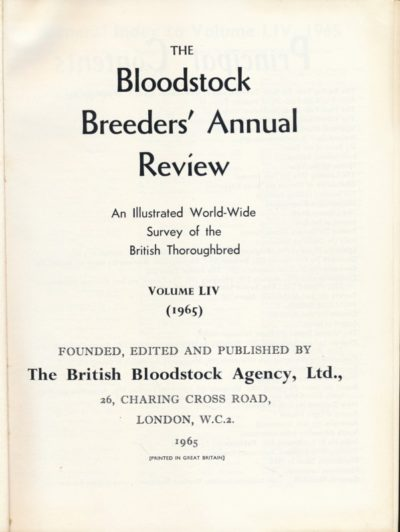 The Bloodstock Breeders Annual Review