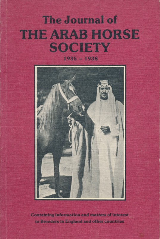 The Journal of the arab horse society 1935 - 1938