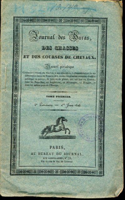 Journal des Haras des chasses et des courses de chevaux