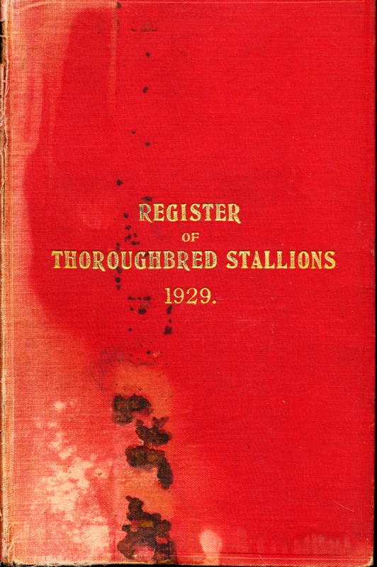 Register of Thoroughbred Stallions 1929