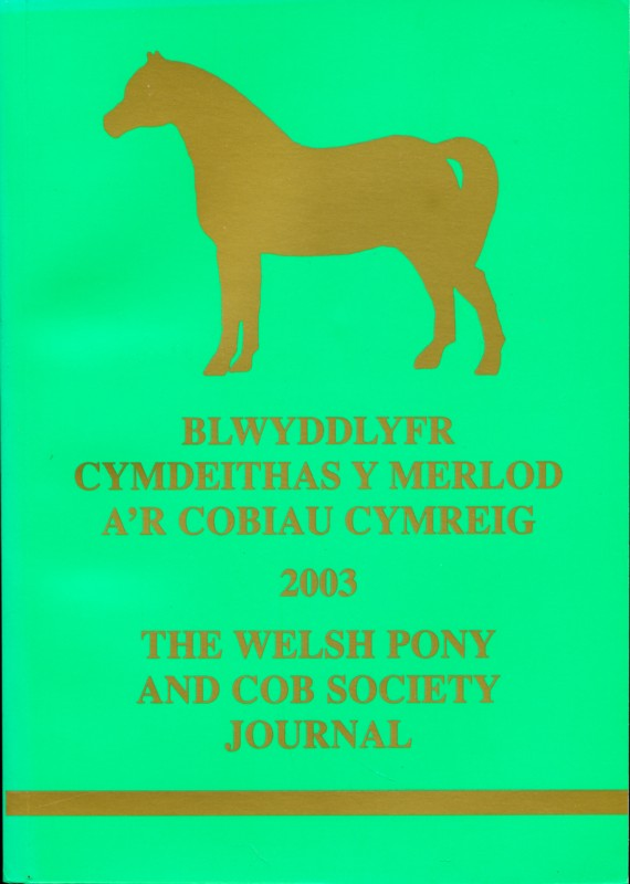 The Welsh Pony and Cob Society Journal 2003